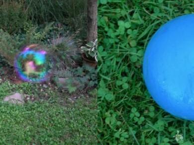 Vető János: Szappanbuborék kék labda